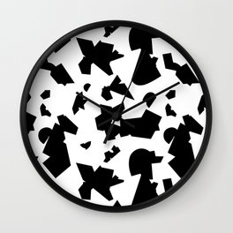 Folded black Wall Clock