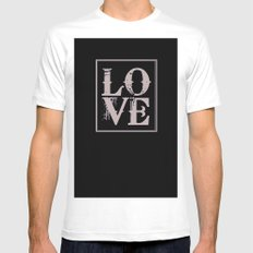 All We Need is Love MEDIUM Mens Fitted Tee White