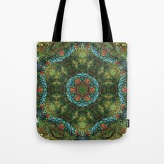 Tropical vine mandala Tote Bag