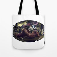 hook Tote Bags featuring Hook  by Florian Proust