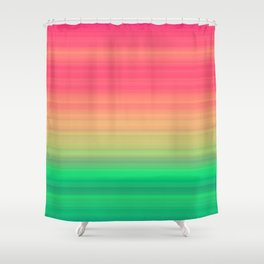 Tropical stripes Summer pattern Shower Curtain