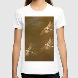 Shiny Dragonflies on the lake T-shirt
