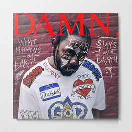 Kendrick Lamar - DAMN. Alternate Album Artwork Cover Metal Print