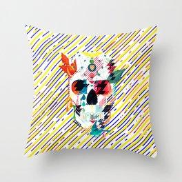 Abstract Skull Throw Pillow