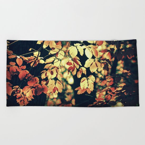 Autumnally Beach Towel