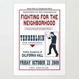 Fight for the Neighborhood - Poster 4 Art Print