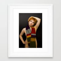 dr who Framed Art Prints featuring Dr Who? by Happy Robot