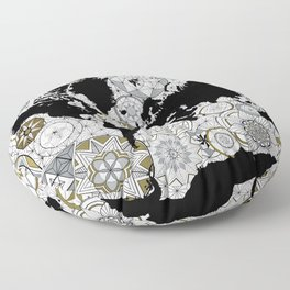 Sacred Blueprints Floor Pillow