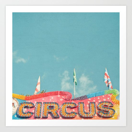Circus Lights Art Print