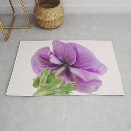 Purple Anemone Side View Rug