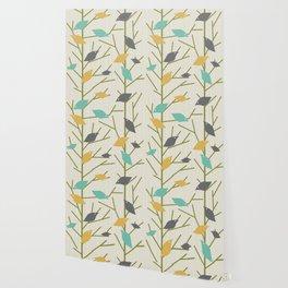 Mid Century Modern Birdsong Wallpaper