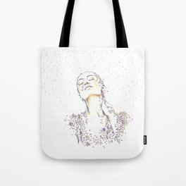 Rain of flowers Tote Bag
