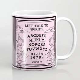 Let's Talk To Spirits | Pastel Pink Black Summoning Board Game Coffee Mug