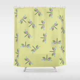 Dragonfly Frenzy Shower Curtain