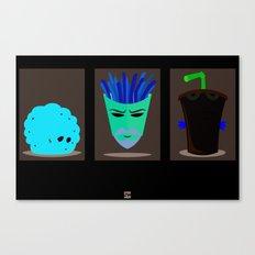Minimalist Aqua Teen Hunger Force Canvas Print