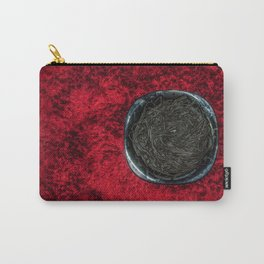 Food 1: Black Linguine on Black Plate Carry-All Pouch