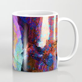 ABSTRACT NATURE // NEW ZEALAND // RAINBOW ROCKS Coffee Mug
