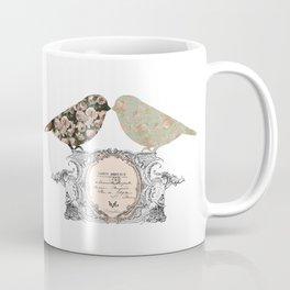 Lovely Vintage French Bird Shabby Chic Coffee Mug