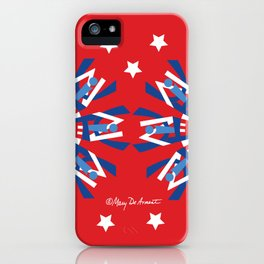 United Mandala x 2-Red White Blue iPhone Case