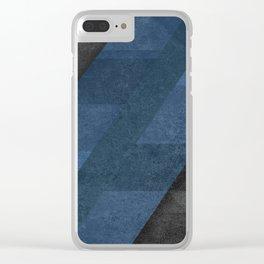 Geometric - Blue Clear iPhone Case