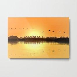 Flying at Sunset Metal Print