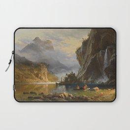 Albert Bierstadt - Indians Spear Fishing (1862) Laptop Sleeve