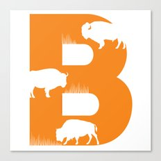 B is for Bison - Animal Alphabet Series Canvas Print