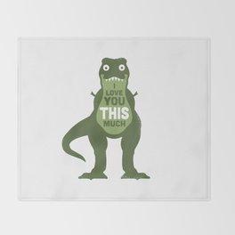 Amourosaurus Throw Blanket