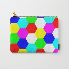 Hexagon Tesselation of Colors Carry-All Pouch