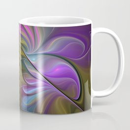 Come Together, Abstract Fractal Art Coffee Mug