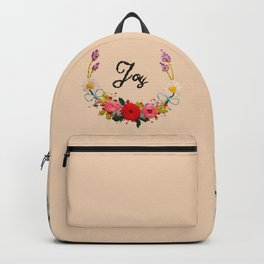 Hand Embroidery Flowers Wreath - Joy Backpack