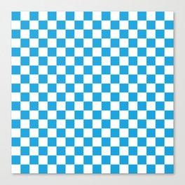 Oktoberfest Bavarian Large Blue and White Checkerboard Canvas Print