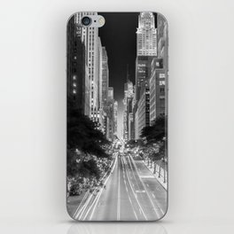 42nd street Manhattan at dawn iPhone Skin