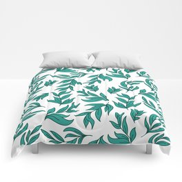 Wild Leaves / Clutter Pattern Comforters