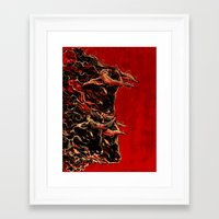 bull Framed Art Prints featuring bull by barmalisiRTB