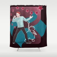 heroes Shower Curtains featuring Heroes by Ilthit