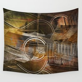 Abstract Cubist Style Guitar Wall Tapestry
