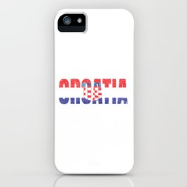 Croatia Country Vintage Croatian National Flag Gift iPhone Case