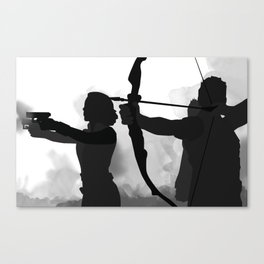 Silhouette Series: Black Hawk Canvas Print