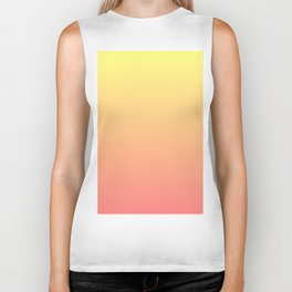 Color gradient 8. Yellow and orange.abstraction,abstract,minimalism,plain,ombré Biker Tank