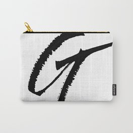 Letter G Ink Monogram Carry-All Pouch