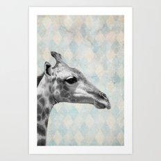 Retro Giraffe Art Print