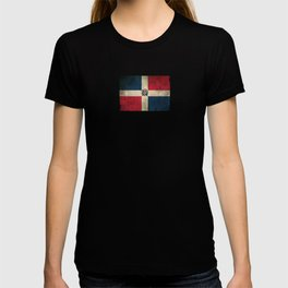Old and Worn Distressed Vintage Flag of Dominican Republic T-shirt