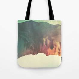 "Glitch art, ""Valley Of Flowers"" 2014 Tote Bag"