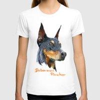 doberman T-shirts featuring Doberman by Det Tidkun