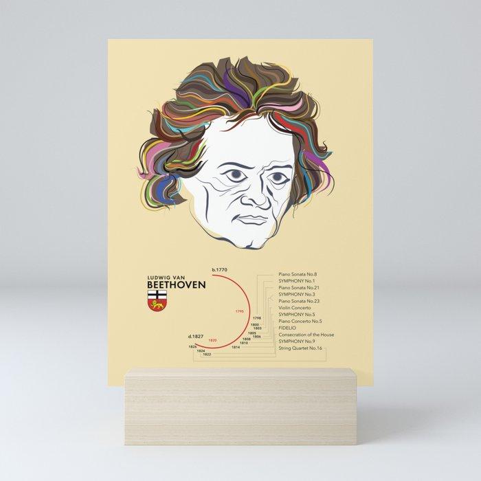 Beethoven (info poster) Mini Art Print