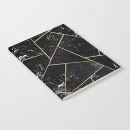 Black Marble Gold Geometric Glam #1 #geo #decor #art #society6 Notebook