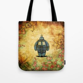 changes into a tardis Tote Bag