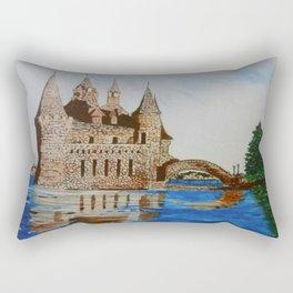 Boldt Castle Power House Rectangular Pillow
