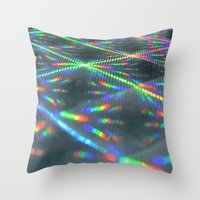 hologram Throw Pillows featuring Laser Paper by Griffin Lauerman